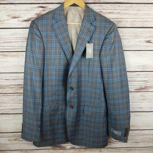 NWT Hart Schaffner Marx 40 L Plaid Blazer Jacket